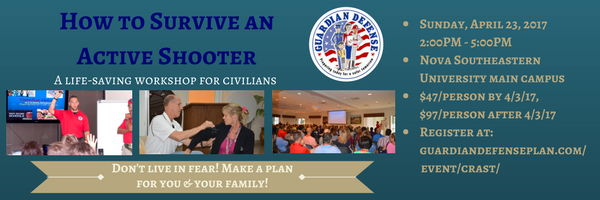 How to Survive an Active Shooter Workshop: LEARN MORE HERE!