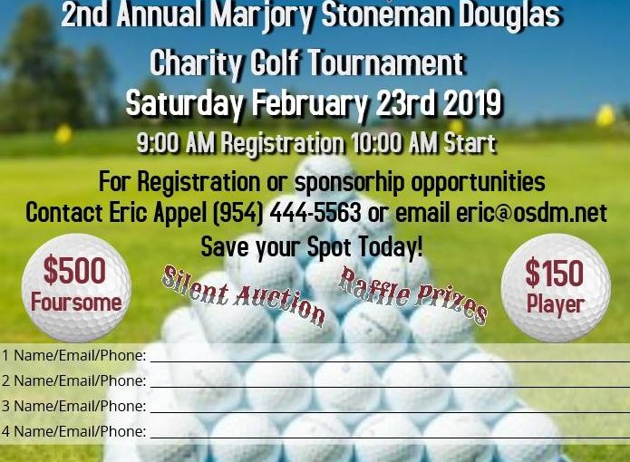 Press Release: Marjory Stoneman Douglas Charity Golf Tournament