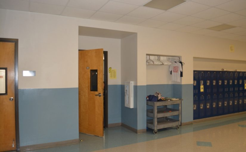 lockdowns and emotional distress, open door in school classroom