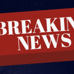 red button with white lettering breaking news on blue background, active shooter incidents in media headlines