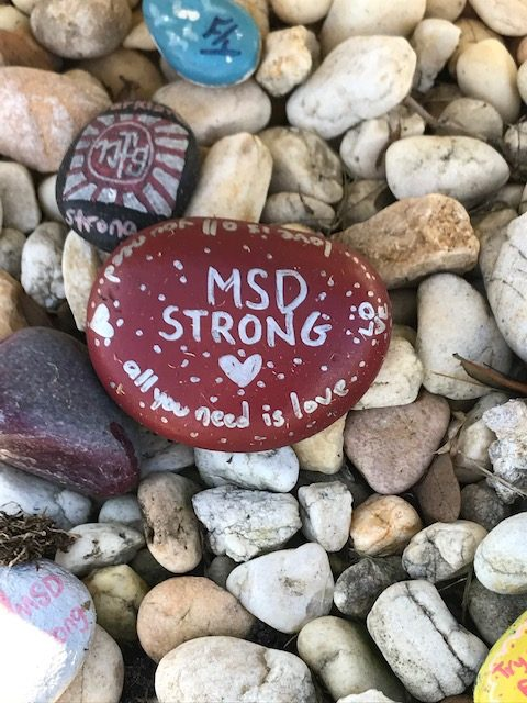 memory stones, dedicated to the Parkland survivors and their families